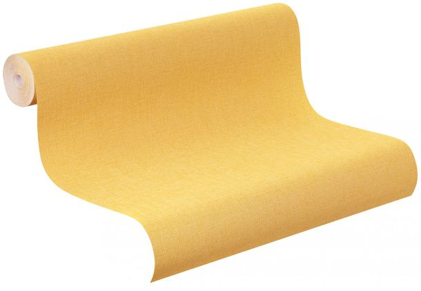 Non-woven wallpaper yellow plain Rasch Florentine wallpaper 448580