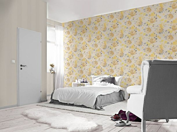 Wallpaper striped stripes Rasch cream beige 448702 online kaufen