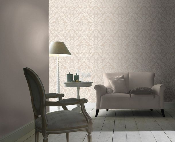 Wallpaper baroque ornament Rasch Pure Vintage beige 449020 online kaufen