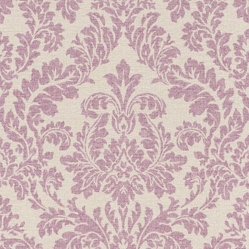 Non-woven wallpaper beige bordeaux baroque pattern Rasch Florentine wallpaper 449044