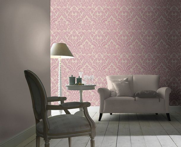 Non-woven wallpaper beige bordeaux baroque pattern Rasch Florentine wallpaper 449044 online kaufen