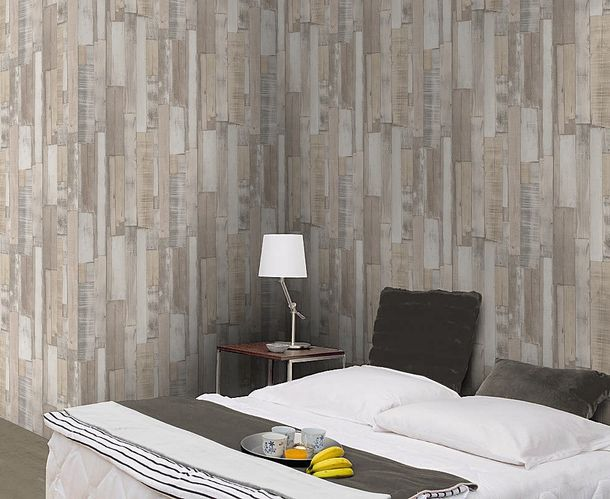 Non-woven wallpaper wood look patina beige light grey Rasch Factory 2 wallpaper 446715 online kaufen