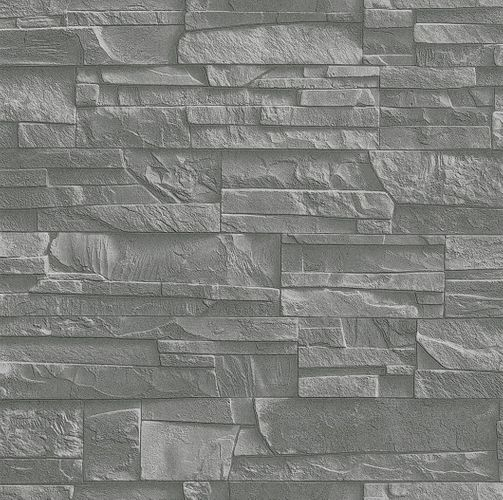 Non-woven wallpaper slate look natur stone grey black Rasch Factory 2 wallpaper 475029 online kaufen