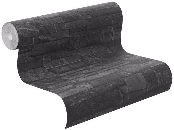 Non-woven wallpaper slate look natur stone black Rasch Factory 2 wallpaper 475036 online kaufen