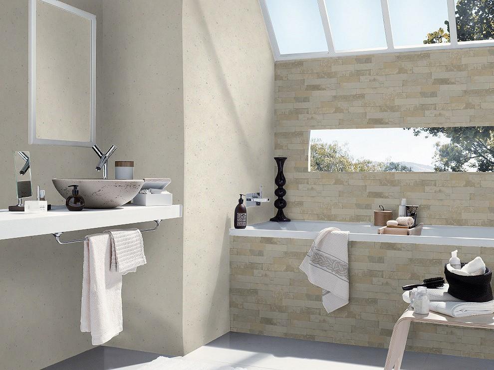 wallpaper rasch 3d stone wall design grey brown 475111. Black Bedroom Furniture Sets. Home Design Ideas