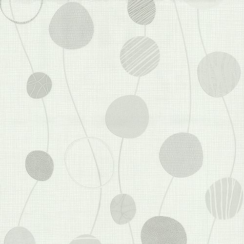 Non-woven wallpaper graphic circles cream silver P+S International Novara 2 13465-10 online kaufen
