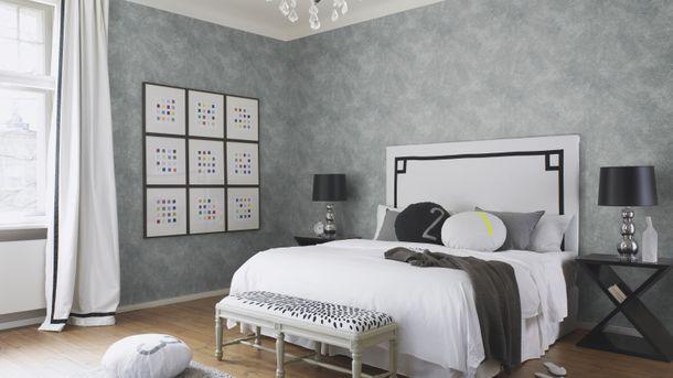 Wallpaper Rasch Deco Style texture silvergrey gloss 588361 online kaufen