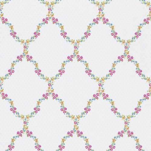 Wallpaper Rasch Textil nature pink yellow blue 285344