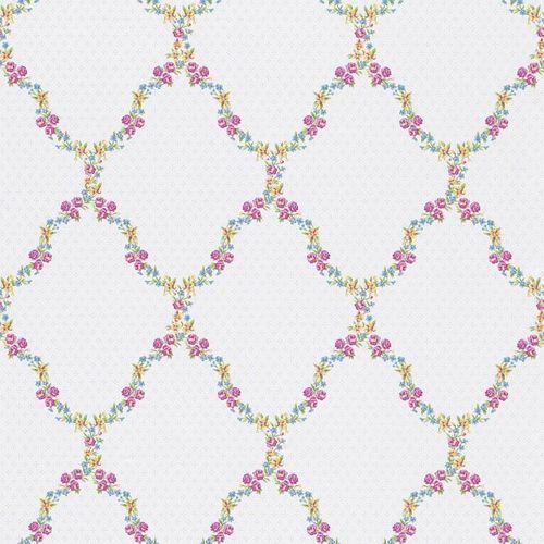 Wallpaper Rasch Textil nature pink yellow blue 285344 online kaufen