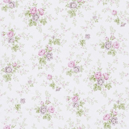 Wallpaper Rasch Textil nature green rose 285023