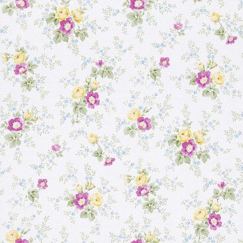 Wallpaper Rasch Textil nature yellow pink blue 285009 online kaufen