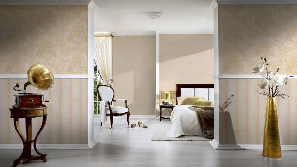 Wallpaper uni cream metallic livingwalls Bohemian Burlesque 96079-2 online kaufen