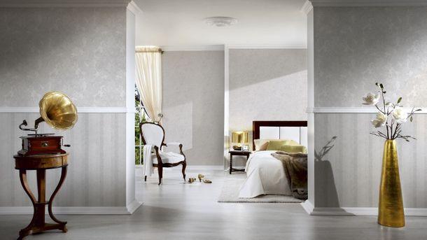 Wallpaper uni whitegrey light blue livingwalls Bohemian Burlesque 96079-6 online kaufen