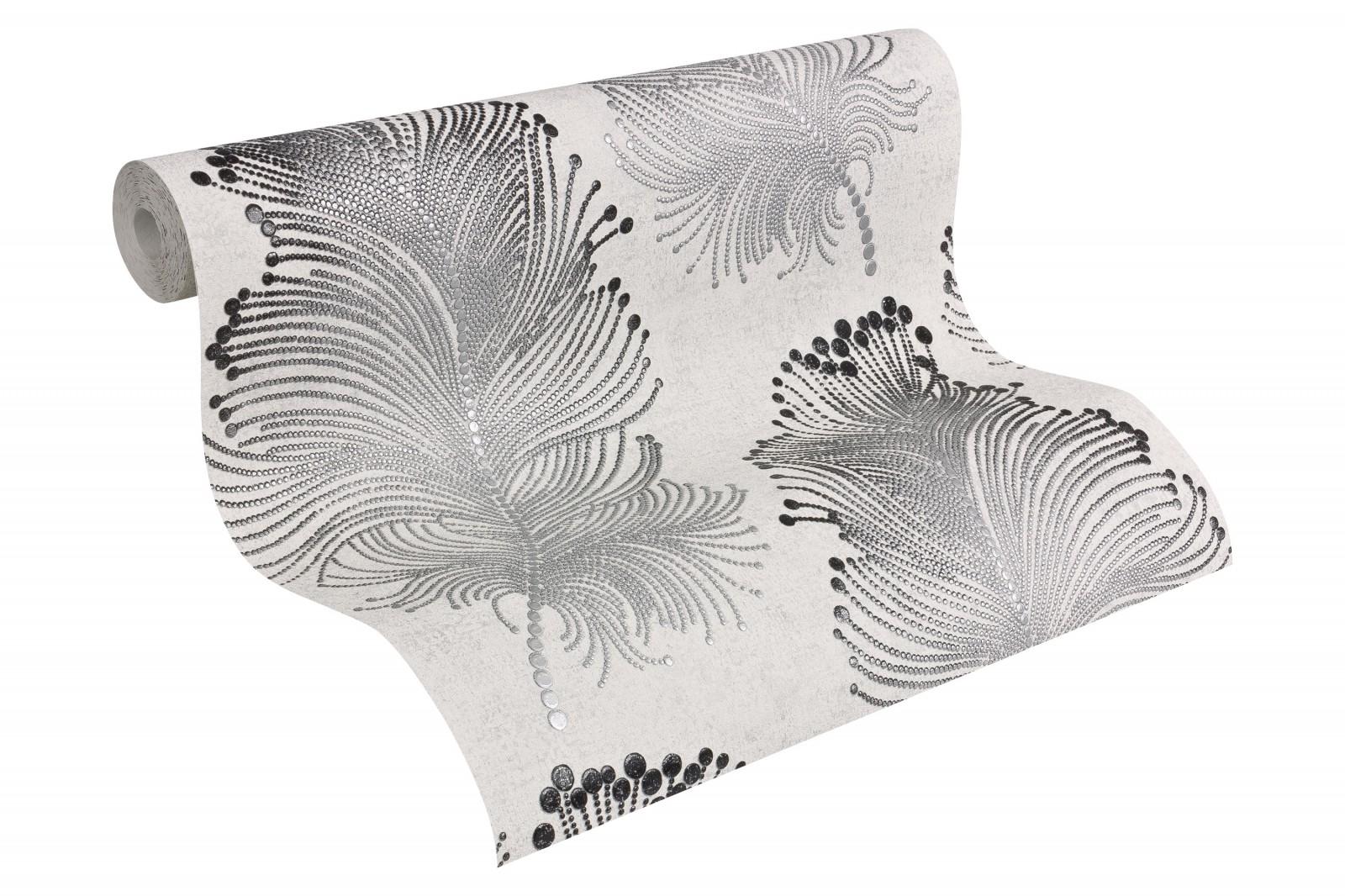 vliestapete grau silber natur livingwalls 96045 6. Black Bedroom Furniture Sets. Home Design Ideas