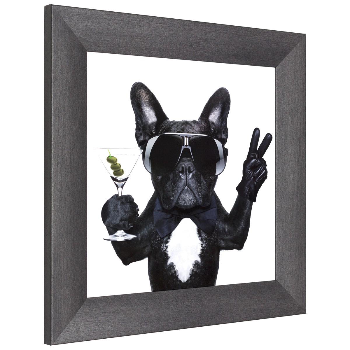 wandbilder 3er set gerahmt hunde cool wei beige. Black Bedroom Furniture Sets. Home Design Ideas