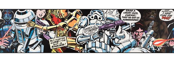 Borte bunt Star Wars Comic Cartoon Bordüre 90-063 online kaufen