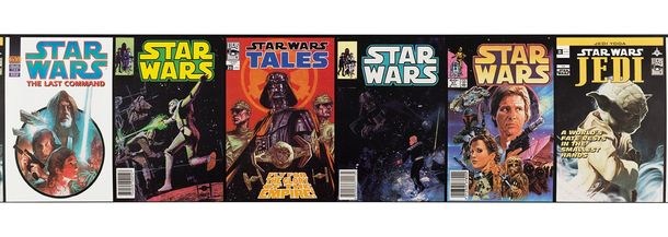 Border colorful Star Wars Comic Cover retro Cartoon Graham & Brown 90-064 90064 online kaufen