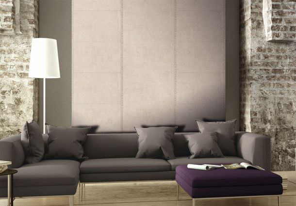 non-woven wallpaper plain pattern creamgrey wallpaper livingwalls New England 2 95964-3 online kaufen