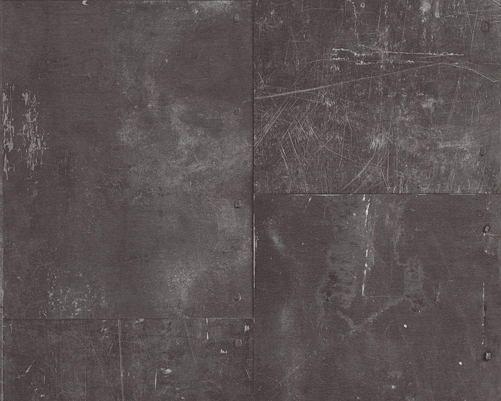 tapete metall metalloptik anthrazit as creation 96223 1. Black Bedroom Furniture Sets. Home Design Ideas