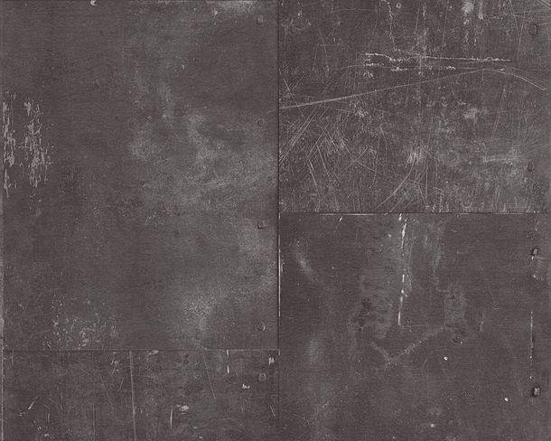 Wallpaper plain design anthracite New England 2 96223-1
