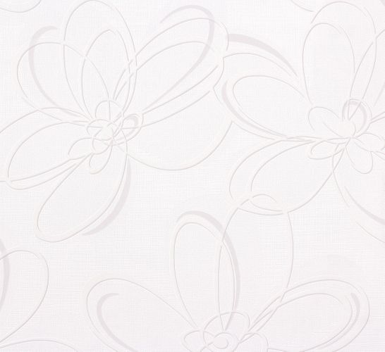 Wallpaper floral abstract white grey Marburg Wohnsinn 55609