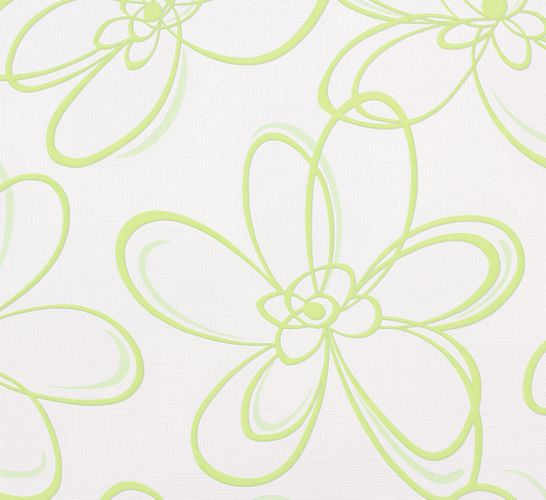 Wallpaper floral abstract green white Marburg Wohnsinn 55610