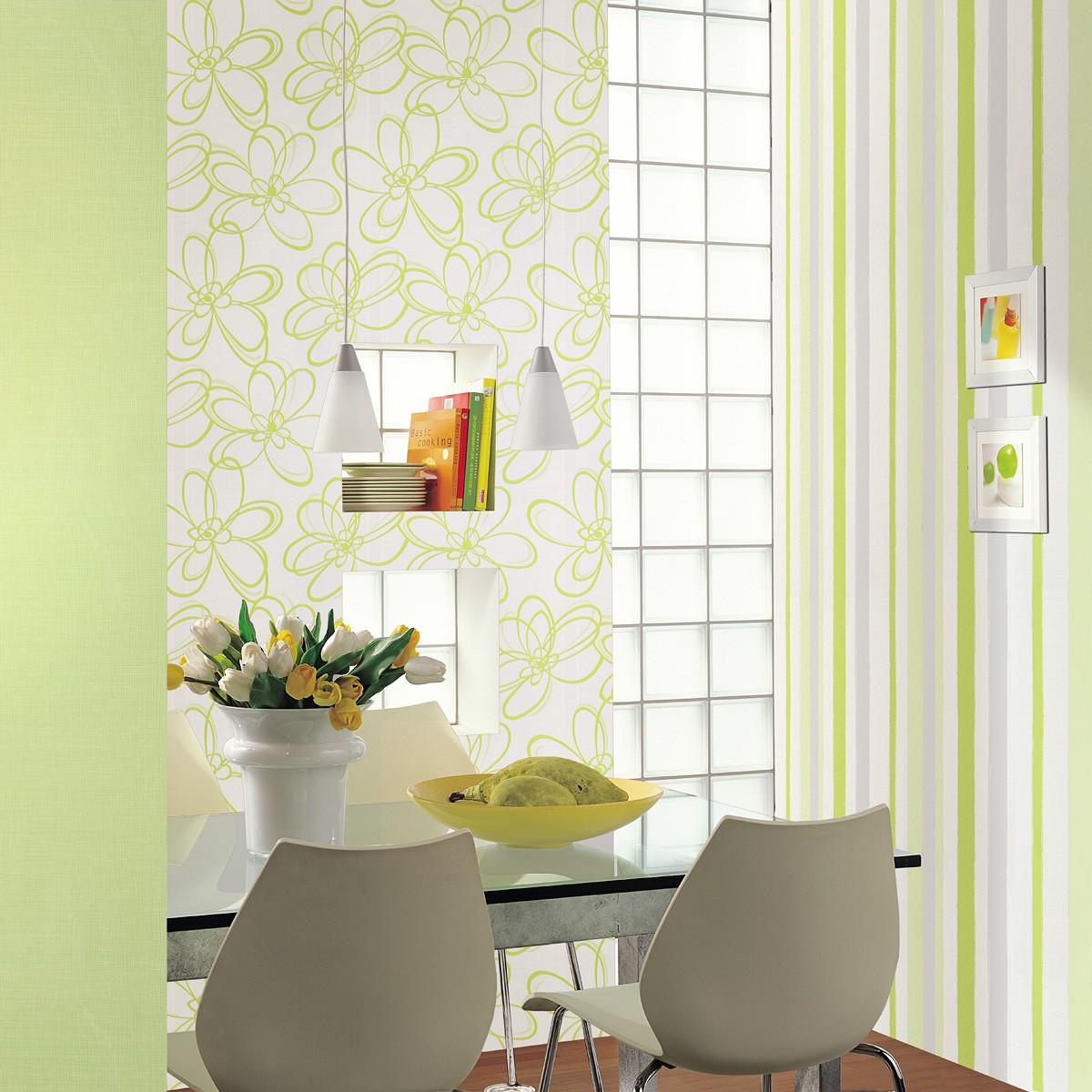 vliestapete streifen wei grau gr n tapeten marburg wohnsinn 55606. Black Bedroom Furniture Sets. Home Design Ideas