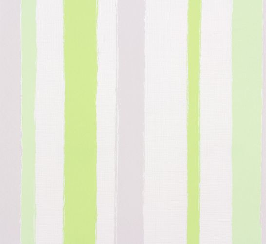 Wallpaper stripes white grey green Marburg Wohnsinn 55606