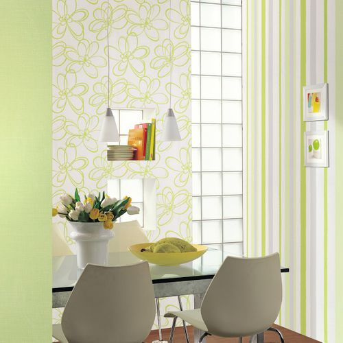 Non-Woven Wallpaper Grid Structure Plain white 55601 online kaufen
