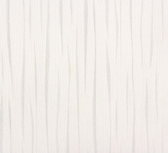 Wallpaper stripes white silver Marburg Wohnsinn 55630