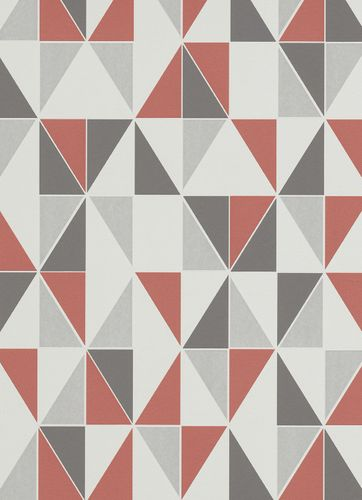 Non-woven wallpaper squared red grey wallpaper Erismann Make Up 2 6925-06 692506 online kaufen