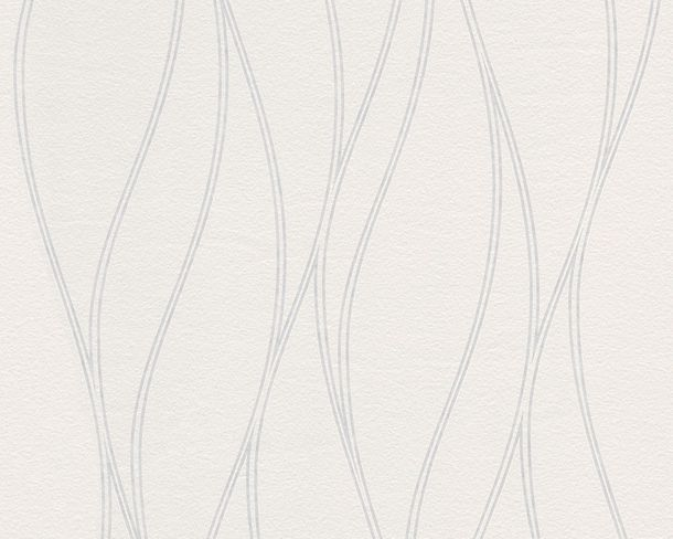 XL Non-Woven Wallpaper Paintable Waves 2450-14