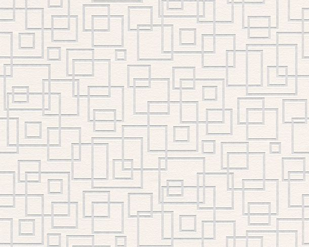 Wallpaper paintable squares modern white AS Meistervlies PRO 5196-10 online kaufen