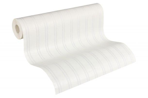 Wallpaper paintable stripes white AS Meistervlies GO 2435-15 online kaufen