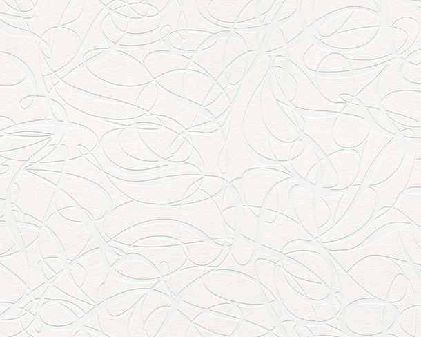 Wallpaper paintable design modern white AS Meistervlies PRO Protect 2427-16