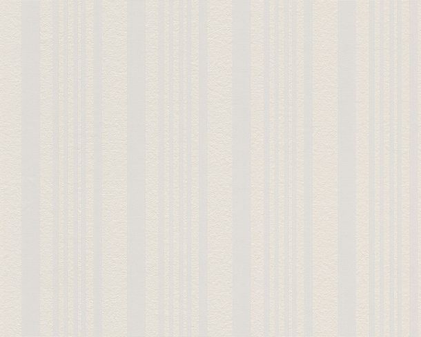 Wallpaper paintable stripes white AS Meistervlies PRO Protect 5863-15