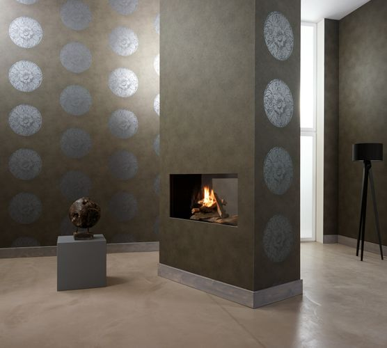 Wallpaper Dieter Langer structure dark grey brown 55949 online kaufen