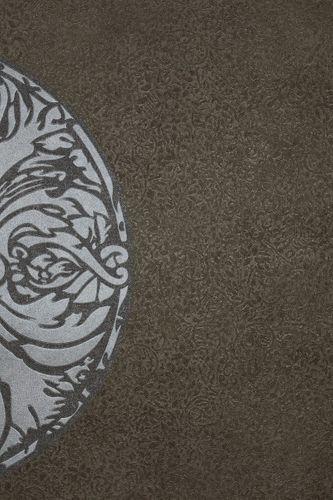 Vliestapete Blumen graubraun silber Dieter Langer 55947