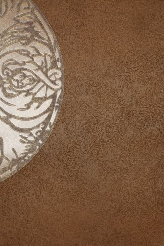 Vliestapete Blumen braun metallic Dieter Langer 55946
