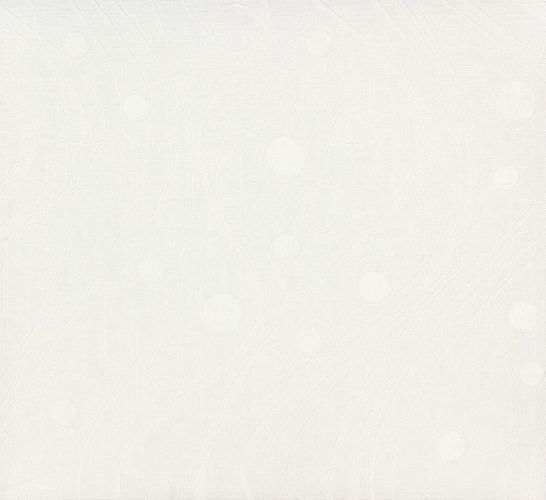 non-woven wallpaper paintable waves circles white wallpaper Patent Decor 3D Marburg 9456 online kaufen