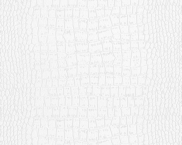 Wallpaper paintable crocodile look white Pigment 9505-12