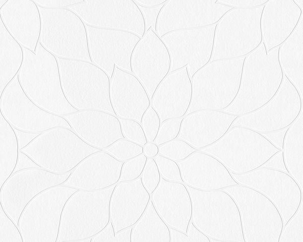 Wallpaper paintable flower white Pigment 9507-10