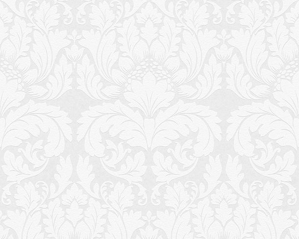 Wallpaper paintable ornament white Pigment 95135-1