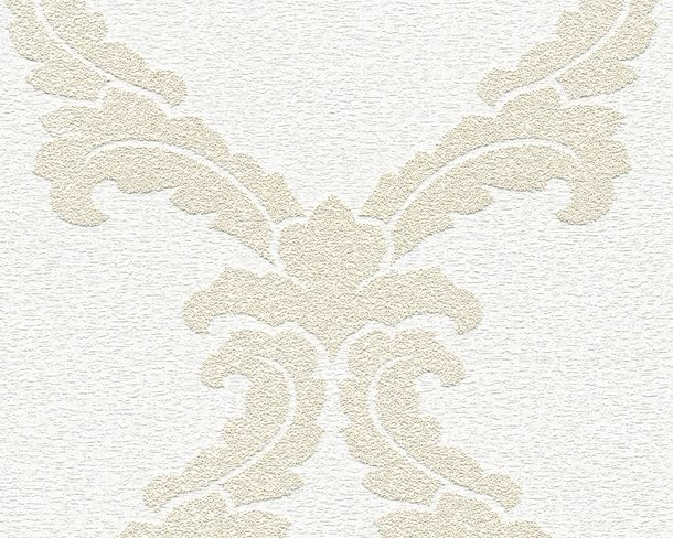 Wallpaper paintable ornament white Pigment 95163-1