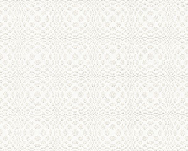 Wallpaper paintable graphic white Pigment 95171-1