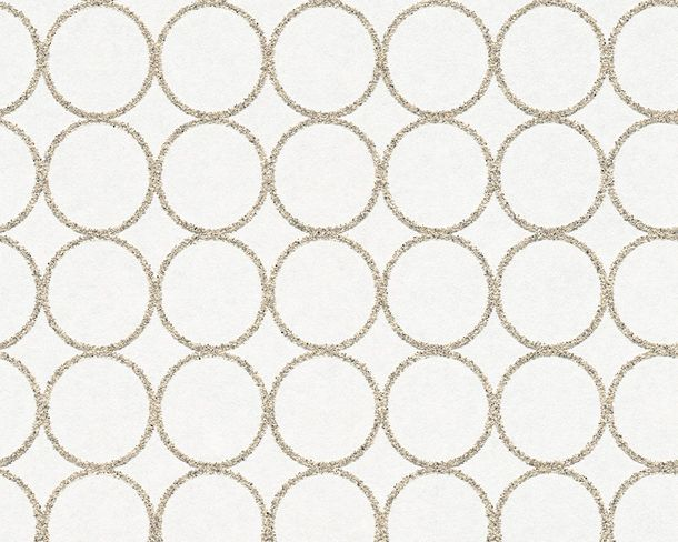 Wallpaper paintable circles white Pigment 95292-1 online kaufen