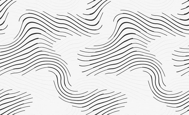 Wallpaper paintable waves white Pigment 9531-17