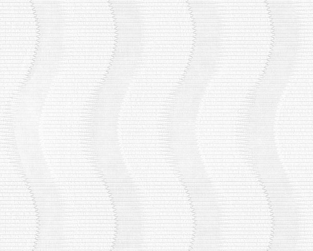 Wallpaper paintable striped white Pigment 95335-1