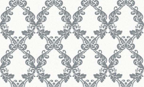 Wallpaper paintable ornament white silber Pigment 95344-1 online kaufen