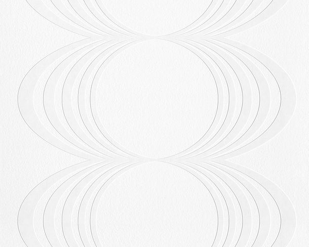 Wallpaper paintable circles white Pigment 9589-14 online kaufen